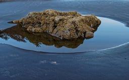 Marea baja de la pila del mar imágenes de archivo libres de regalías
