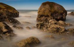 Marea baja de la pila del mar foto de archivo libre de regalías