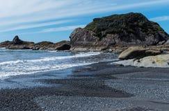 Marea baja de la pila del mar fotografía de archivo libre de regalías