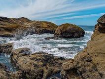 Marea baja de la pila del mar fotos de archivo libres de regalías