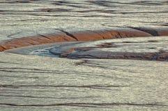 Marea baja del río Foto de archivo libre de regalías
