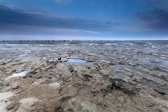 Marea baja en costa de Mar del Norte Fotografía de archivo libre de regalías