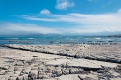 Marea baja en Kaikoura, Nueva Zelanda Imágenes de archivo libres de regalías