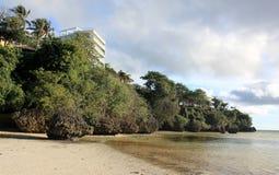 Marea baja en la playa de Bulabog Imagen de archivo libre de regalías