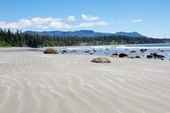 Marea baja en Long Beach. Isla de Vancouver, Canadá Foto de archivo