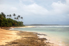 Marea baja South Pacific de la costa del océano Fotos de archivo libres de regalías