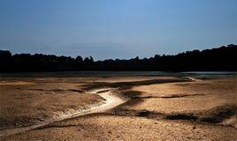 Marea bassa del Brittany Fotografia Stock