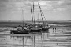 Marea de reflujo cerca de Vlieland Fotografía de archivo libre de regalías