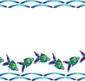 Marea del pesce Immagine Stock