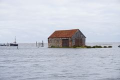 Marea di inondazione Norfolk Fotografia Stock Libera da Diritti