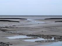 Marea di riflusso del Mare del Nord Fotografia Stock