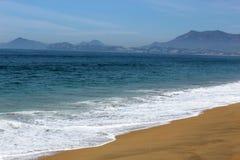 Marea en la playa de Manzanillo Foto de archivo