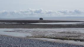 Marea hacia fuera el Sur de Gales  Imagenes de archivo