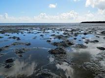 Marea inferior en el Wadden Foto de archivo libre de regalías