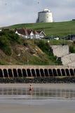 Marea inferior en Folkestone Imágenes de archivo libres de regalías