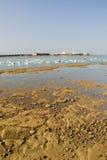 Marea inferior en la bahía de Cádiz Foto de archivo libre de regalías