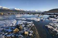 Marea saliente con hielo Fotografía de archivo