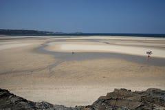 Mareas costeras hacia fuera Fotografía de archivo libre de regalías