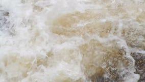 Mareas de la agua corriente almacen de video