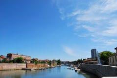 Marecchia river, Rimini, Italy Royalty Free Stock Image
