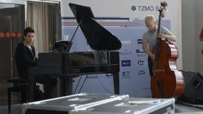 Marek Jakubowski trio on the rehearsal stock footage