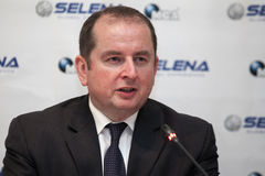 Marek Szczygiel. His Excellency, Ambassador Extraordinary and Plenipotentiary of the Poland in Romania, Marek Szczygiel Stock Photo
