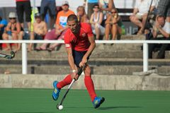 Marek Travnik - field hockey Royalty Free Stock Photo