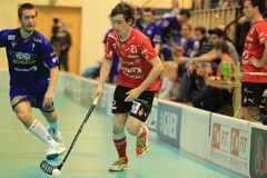 Marek Vavra - floorball Royalty Free Stock Photos