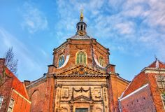 Marekerk, a Protestant church in Leiden, the Netherlands royalty free stock images
