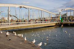 Maremagnum shopping center bridge Barcelona port Royalty Free Stock Photography