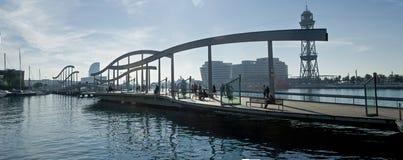 Maremagnum Zugriffsbrücke stockfoto