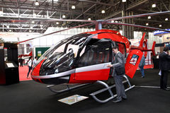 Marenco swiss helicopter prototype. MOSCOW - MAY 19: Marenco swiss helicopter prototype at the international exhibition of  the helicopter industry, HeliRussia Royalty Free Stock Photos