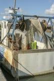 Marennes Frankrike 12-13-2018 Traditionell hamn för ostronfarminTraditionalhamnen för att bruka för ostron av Marennes Oleron i F arkivbilder