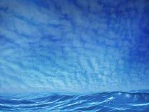 Mares azuis Imagens de Stock