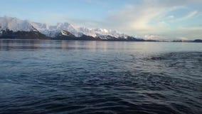 Mares de calma em Alaska video estoque