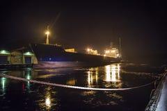 Mares do lysvik do milivolt (noite) Foto de Stock Royalty Free
