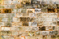 Mares sandstone stone masonry wall in Majorca Royalty Free Stock Image