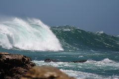 Mares tormentosos Imagem de Stock Royalty Free