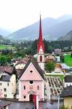 Mareta befindet sich am Mund Val Ridannas Stockbild