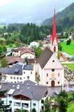 Mareta befindet sich am Mund Val Ridannas Stockfotos