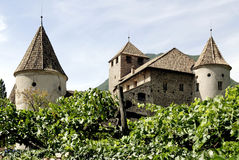 Maretsch castle of Bolzano in South Tyrol Royalty Free Stock Photography