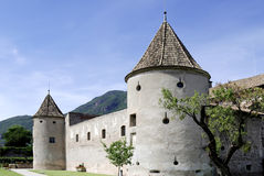 Maretsch castle of Bolzano in South Tyrol Royalty Free Stock Image