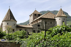 Maretsch castle of Bolzano in South Tyrol Royalty Free Stock Images