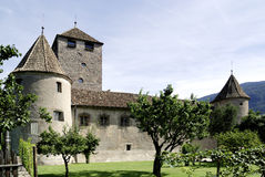 Maretsch castle of Bolzano in South Tyrol Stock Image