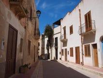 Marettimo village, Isle of Marettimo, Sicily, Italy Royalty Free Stock Images