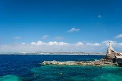 Marfa Harbour Malta Gozo far away. The Marfa Harbour with Gozo Island on background - Malta Stock Photos
