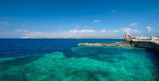 Marfa Harbour Malta wide angle Stock Image