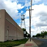 Marfa, TX Watertower, West-Texas royalty-vrije stock foto's