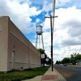 Marfa, TX Watertower, Zachodni Teksas zdjęcia royalty free