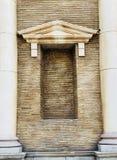 Marfil vieja del blanco del estilo romano del vintage de la decoración de la pared de Colorfull Imagenes de archivo